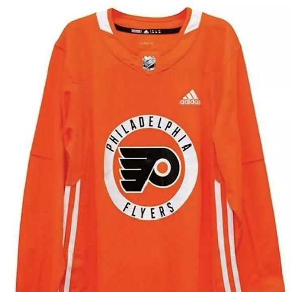 Nhl Philladelphia Flyers Jersey sz M 52 adidas